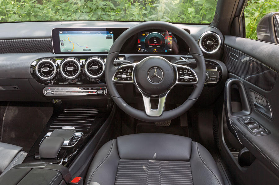 Mercedes-Benz A-Class 2018 road test review dashboard