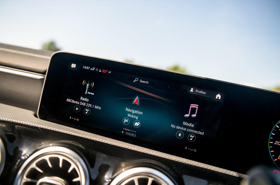 Mercedes-Benz CLA 2019 road test review - infotainment