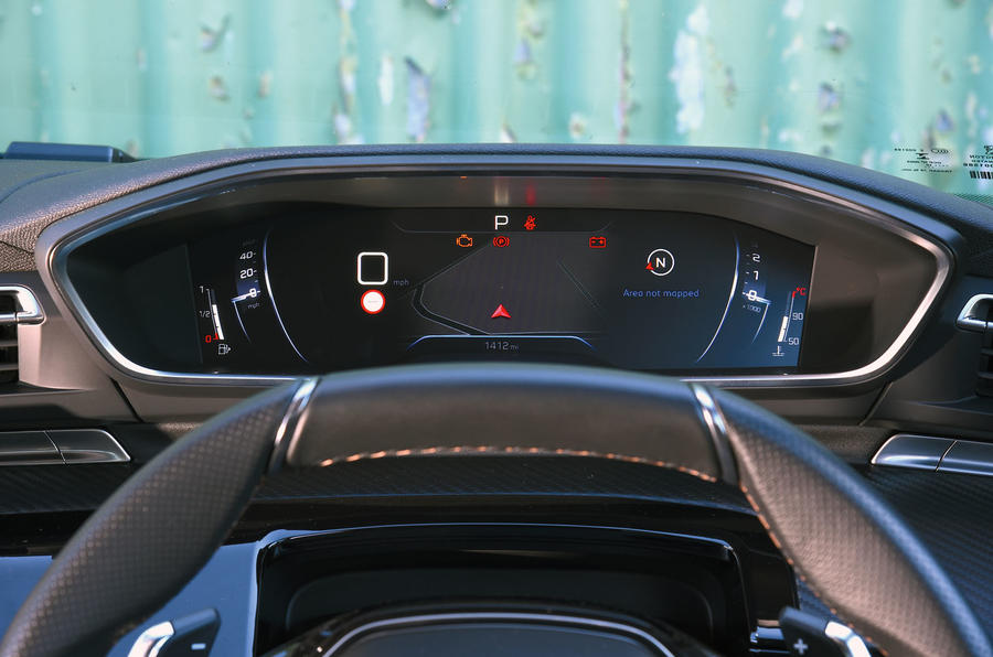 Peugeot 508 2018 road test review - instrument cluster