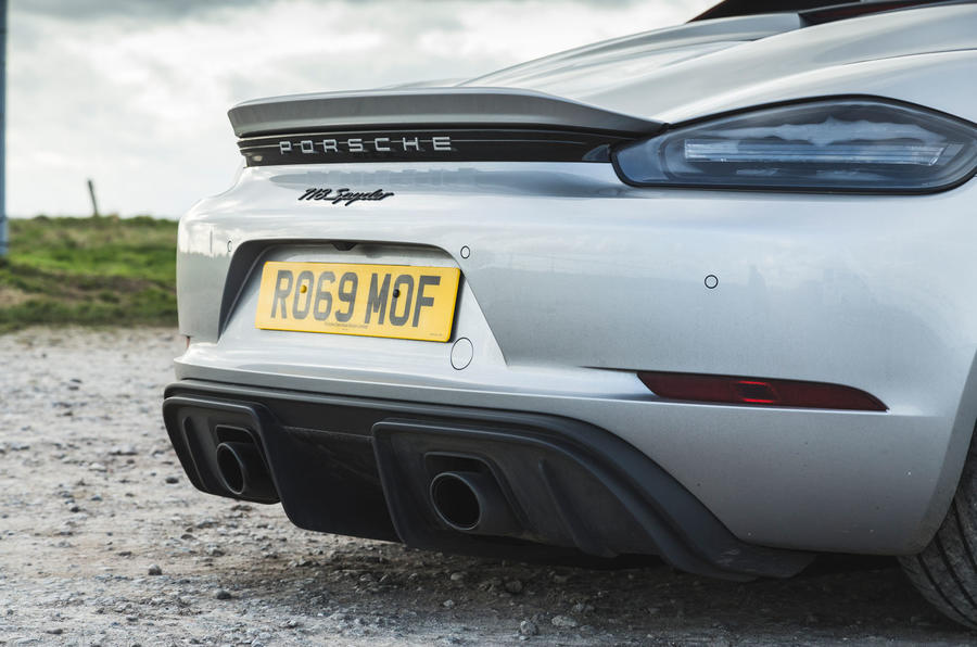 Porsche 718 Spyder 2020 road test review - exhausts