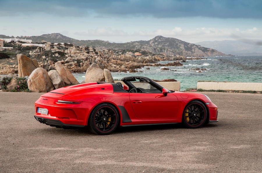 Porsche 911 Speedster 2019 review - static rear