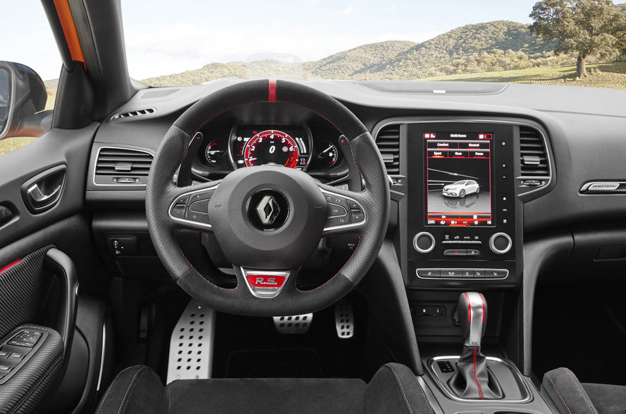 Renault Megane RS 280 2018 road test review dashboard