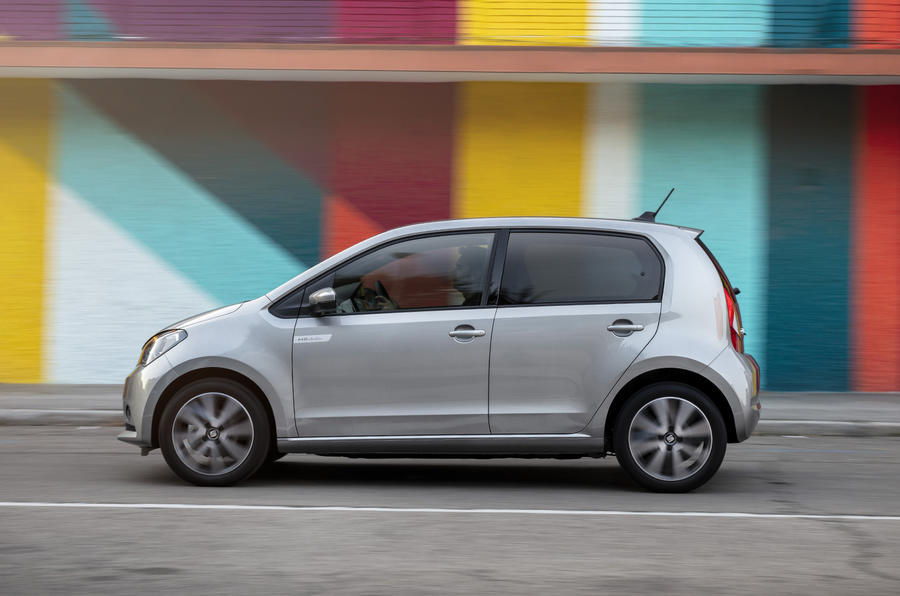 Seat Mii Electric 2020 road test review - on the road left