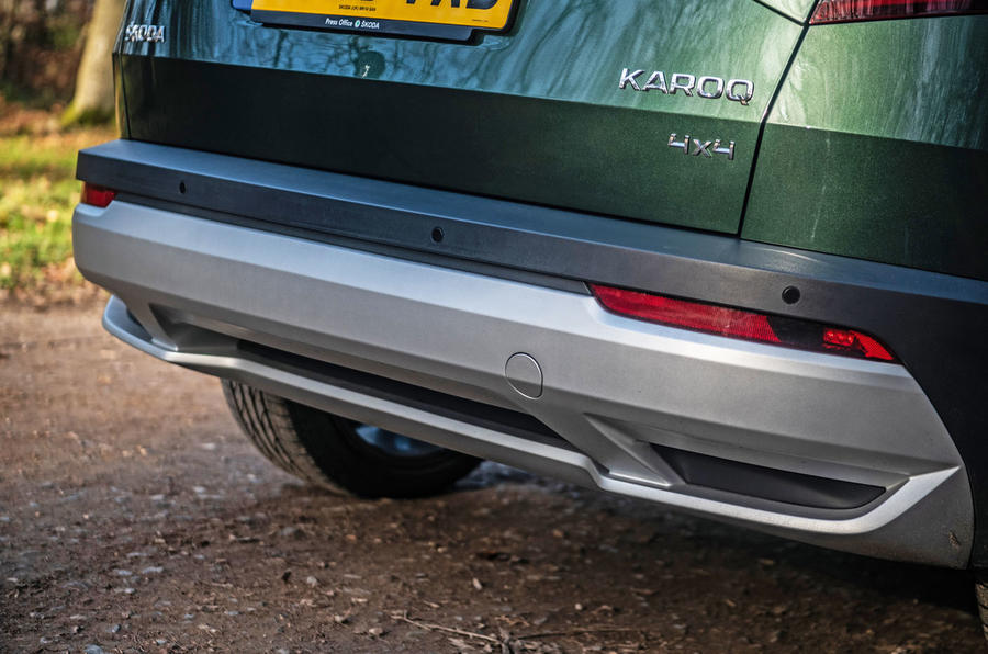 Skoda Karoq Scout 2019 road test review - rear bumper