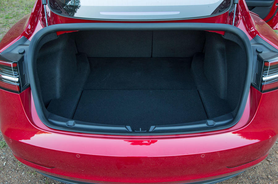 Tesla Model 3 2018 road test review rear boot