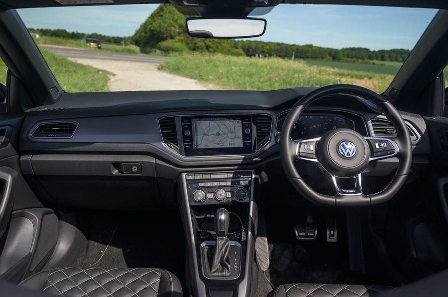 Volkswagen T-Roc Cabriolet 2020 road test review - dashboard