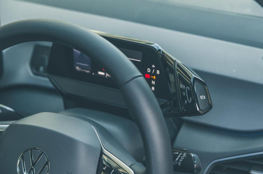 14 VW ID 3 2021 essai routier sélecteur de vitesse