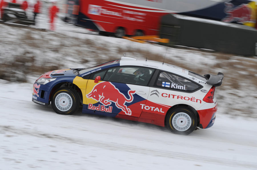 Raikkonen samples Citroen WRC