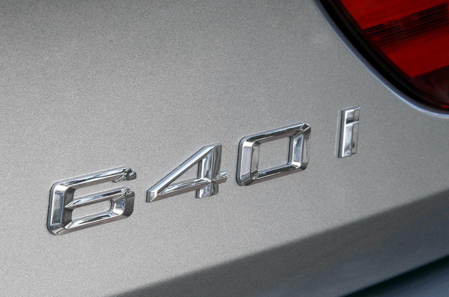 BMW 640i Convertible badging