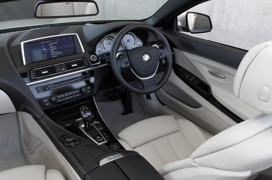 BMW 640i Convertible interior