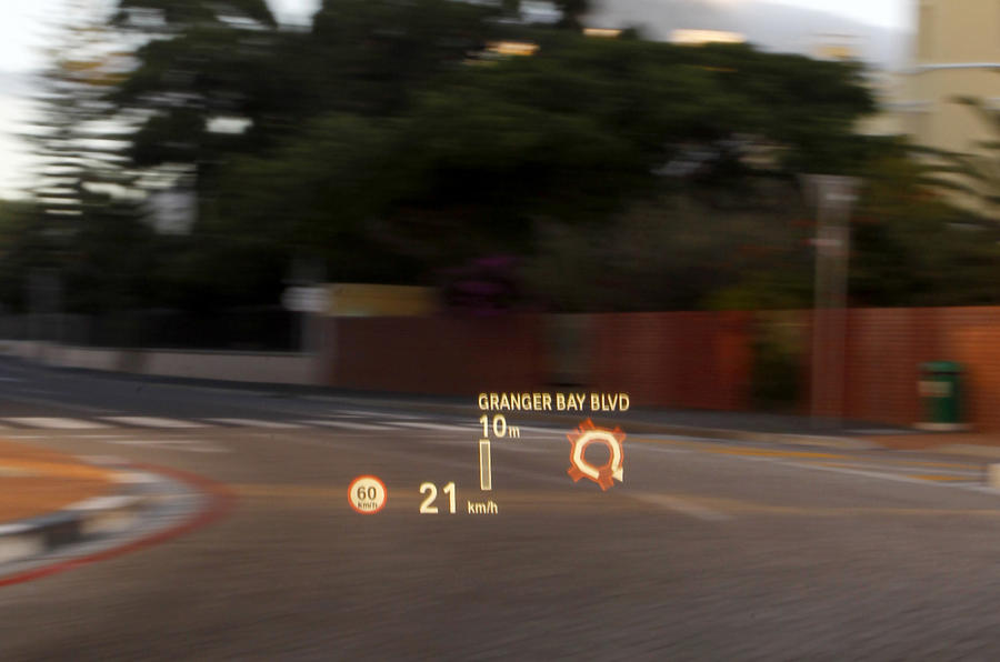 BMW 640i Convertible head-up display