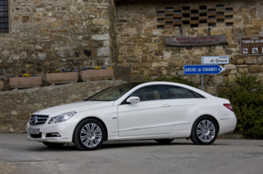 Mercedes-Benz E350 CGI coupe side profile