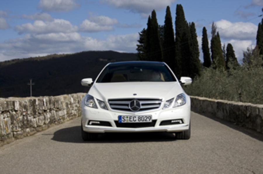 Mercedes E350 CDI Coupe front end