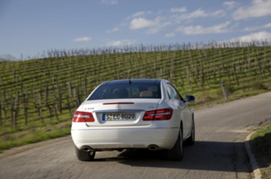 Mercedes E350 CDI Coupe rear cornering