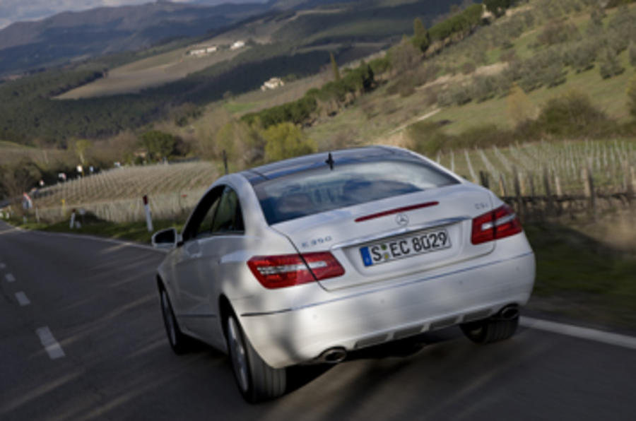 Mercedes-Benz E350 CGI coupe rear quarter