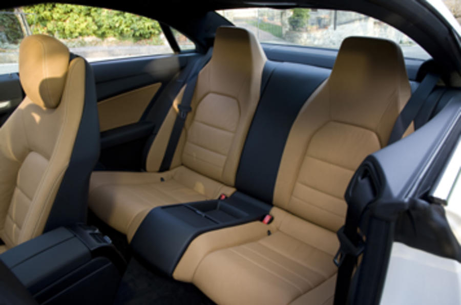 Mercedes-Benz E350 CGI coupe rear seats