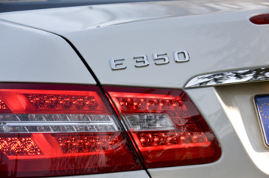 Mercedes-Benz E350 CGI coupe rear lights
