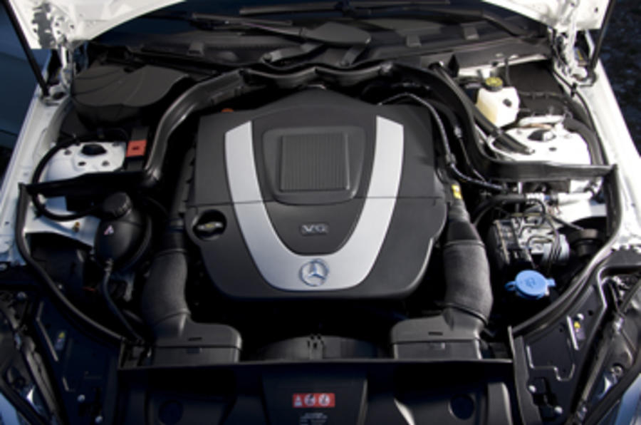 3.0-litre V6 Mercedes-Benz E350 CGI coupe engine