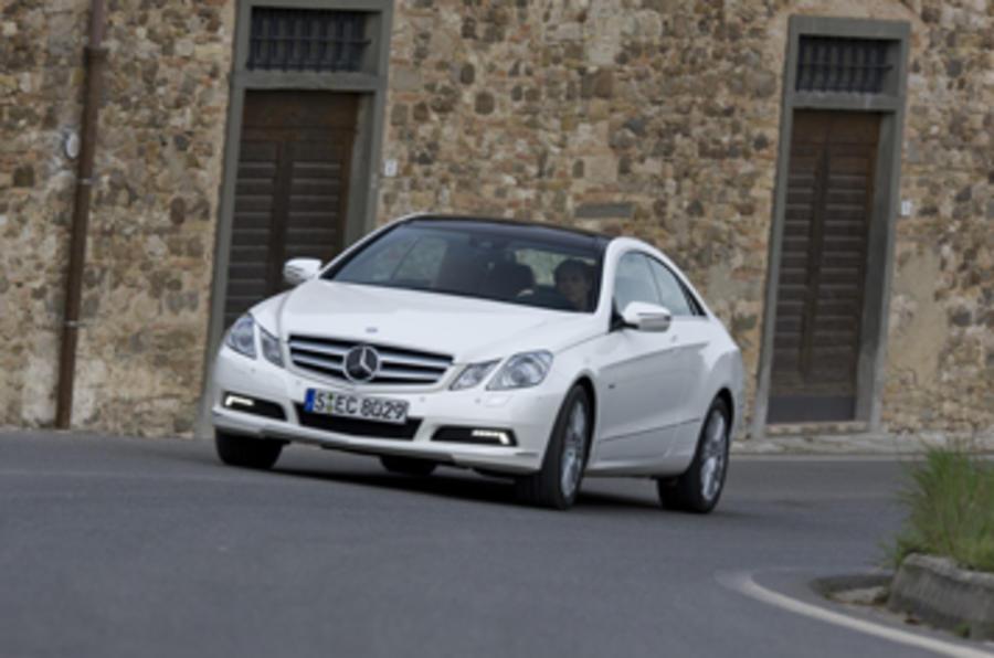 Mercedes E350 CDI Coupe cornering