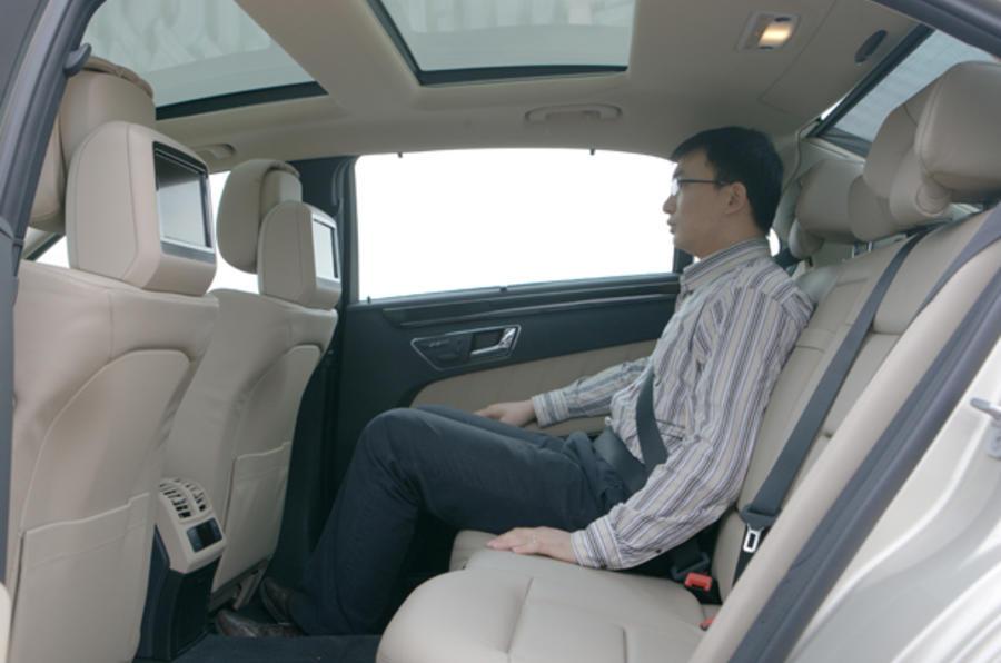 Mercedes-Benz E-Class LWB rear seats