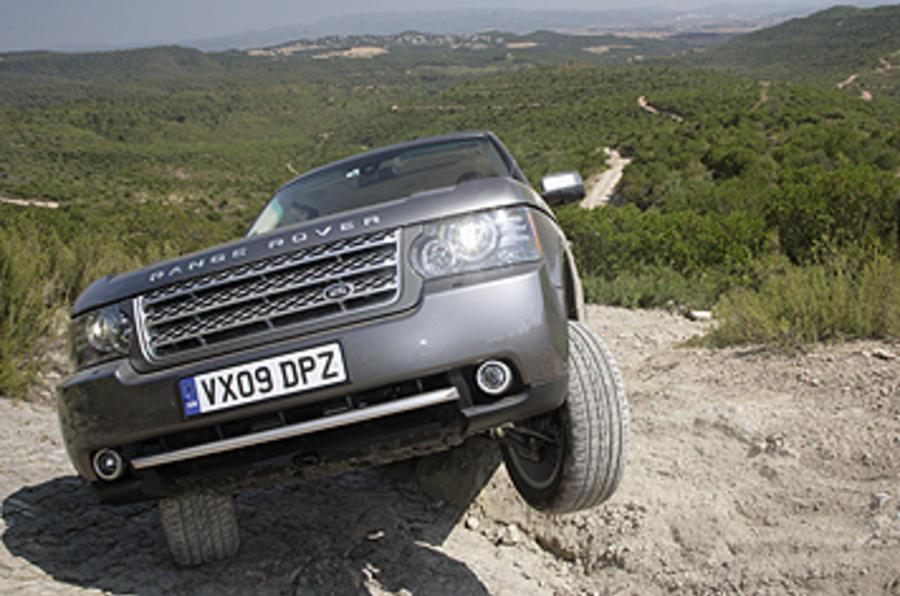 Range Rover off-roading