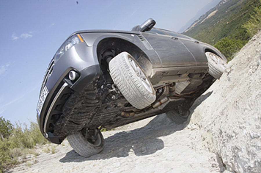 Range Rover axle articulation