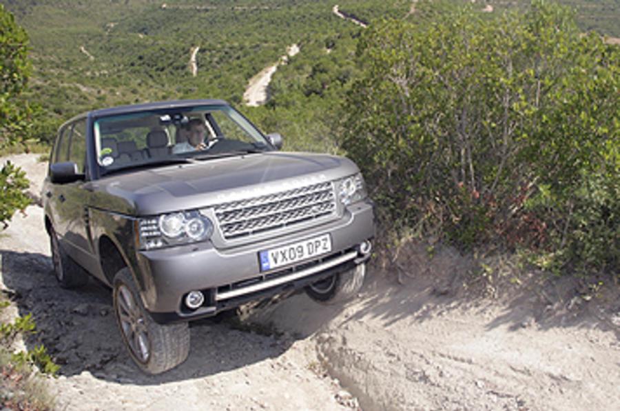 Range Rover climbing