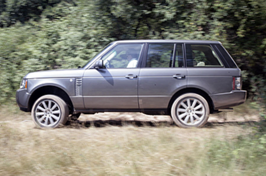 Range Rover on a gravel track