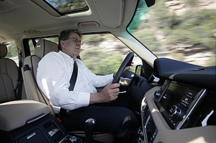 Driving the Range Rover 5.0-litre V8