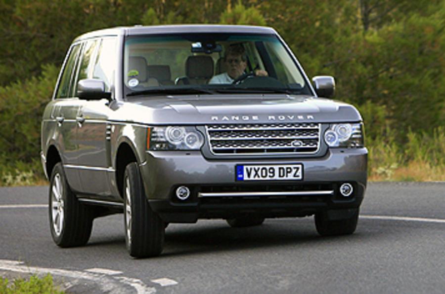 Range Rover cornering