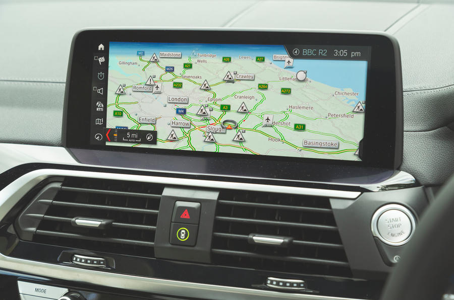 Alpina XD3 2019 UK road test review - infotainment