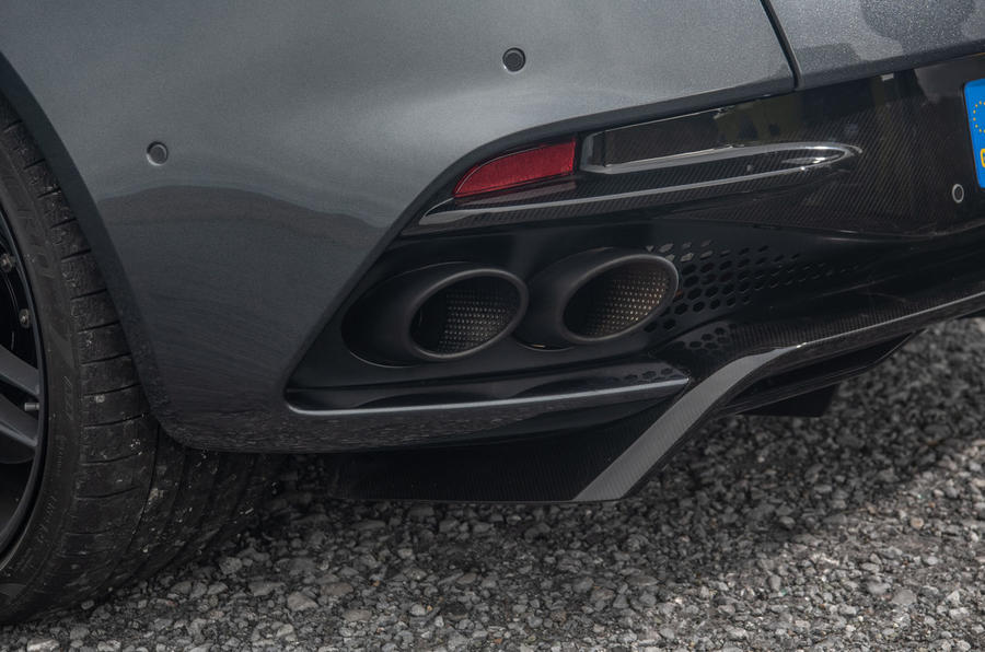 Aston Martin DBS Superleggera 2018 road test review - exhaust