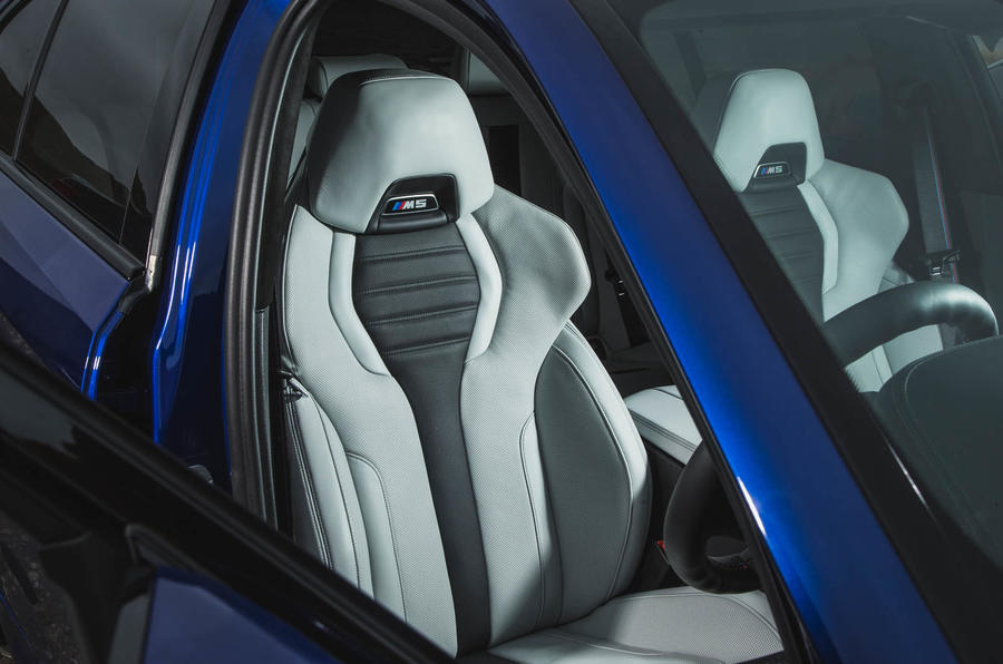 BMW M5 2018 review front seats