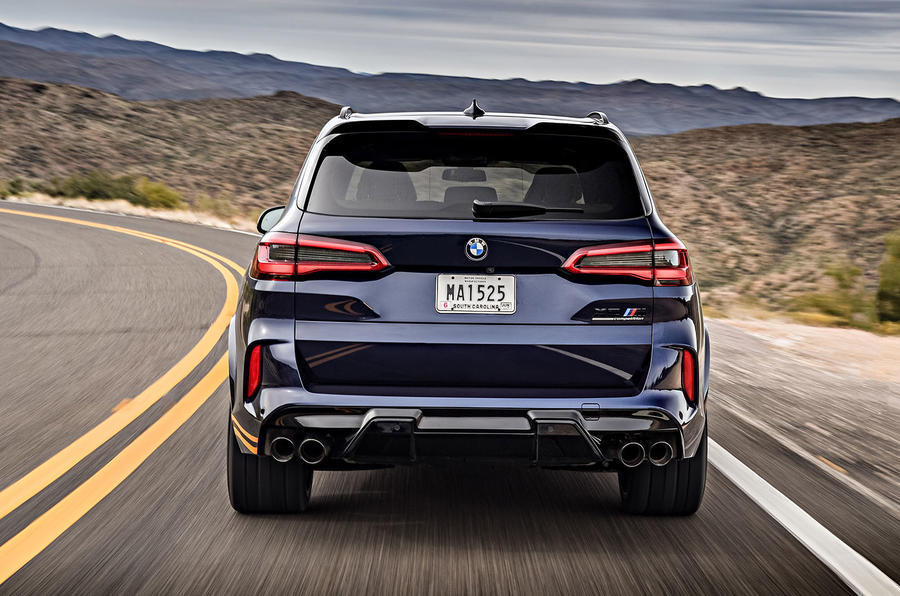 BMW X5 M Competition 2020 road test review - rear end