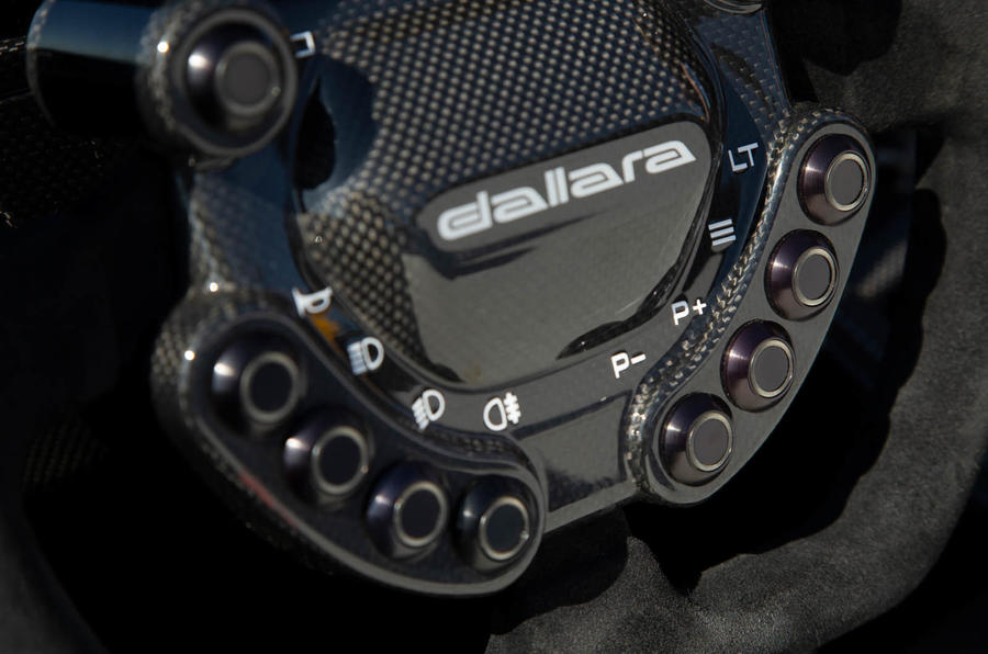 Dallara Stradale 2019 road test review - steering wheel buttons