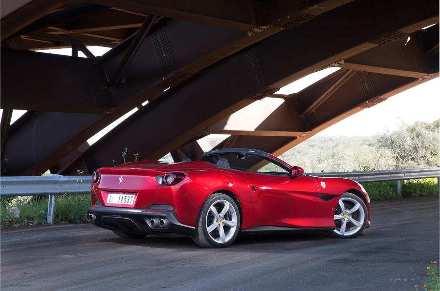Ferrari Portofino review roof down