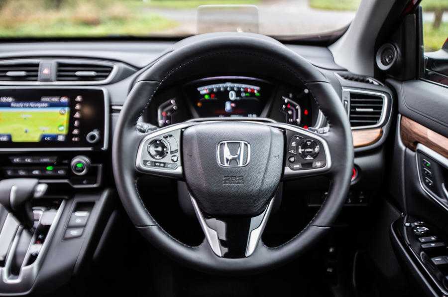 Honda CR-V 2018 road test review - steering wheel
