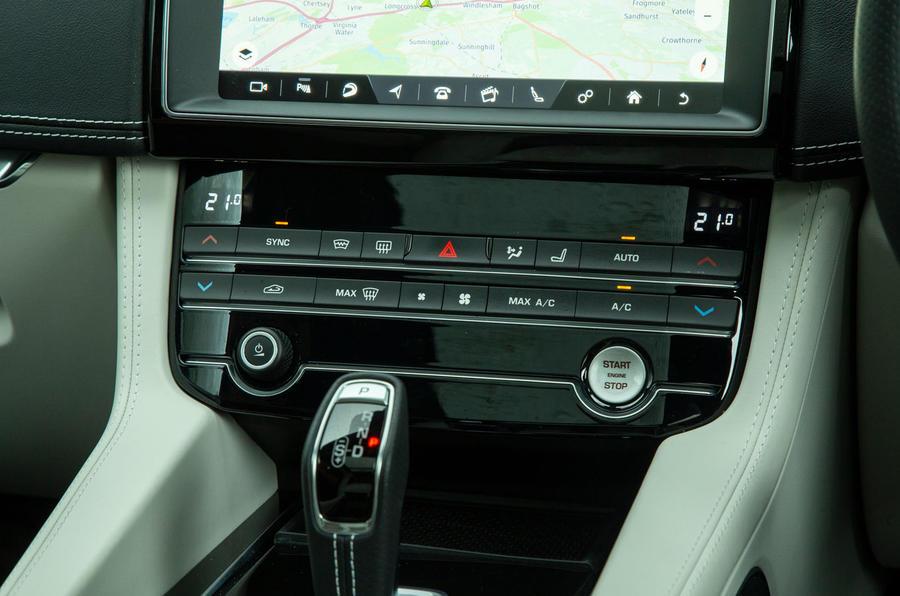 Jaguar F-Pace SVR 2019 road test review - climate controls