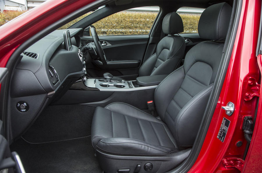 Kia Stinger GT line 2018 review cabin