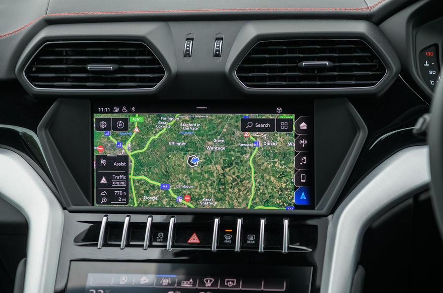 Lamborghini Urus 2019 road test review - infotainment