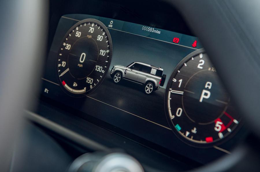 Examen de l'essai routier Land Rover Defender 2020 - instruments