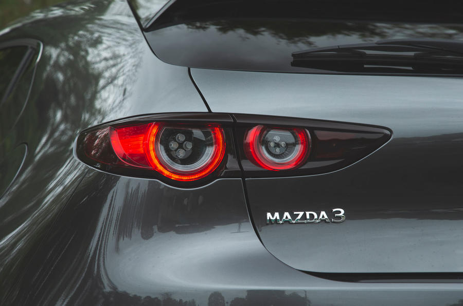 Mazda 3 Skyactiv-X 2019 road test review - rear lights