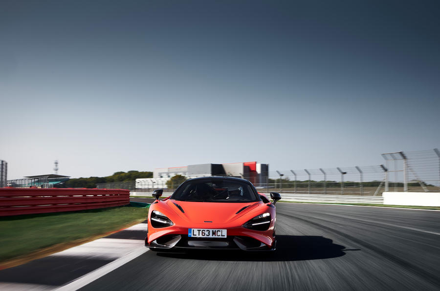 McLaren 765LT 2020 road test review - on the road nose