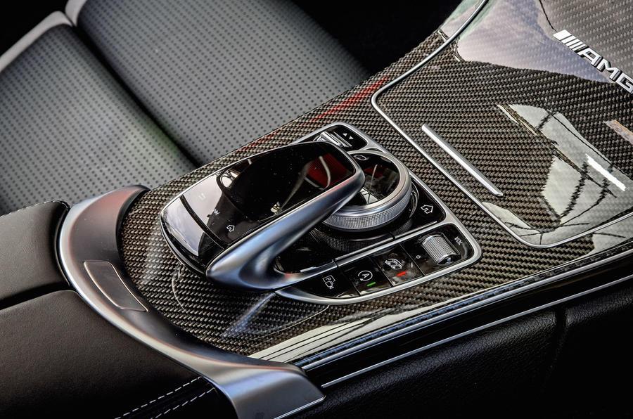 Mercedes-AMG C63 Coupé 2019 road test review - centre console