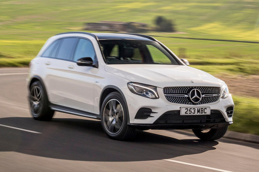 Mercedes-AMG GLC 43 road test review - cornering front