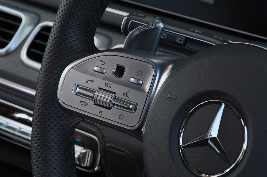 Mercedes-AMG GLE 53 2020 road test review - steering wheel buttons