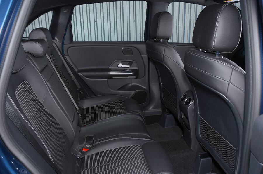 Mercedes-Benz B-Class 2019 road test review rear seats