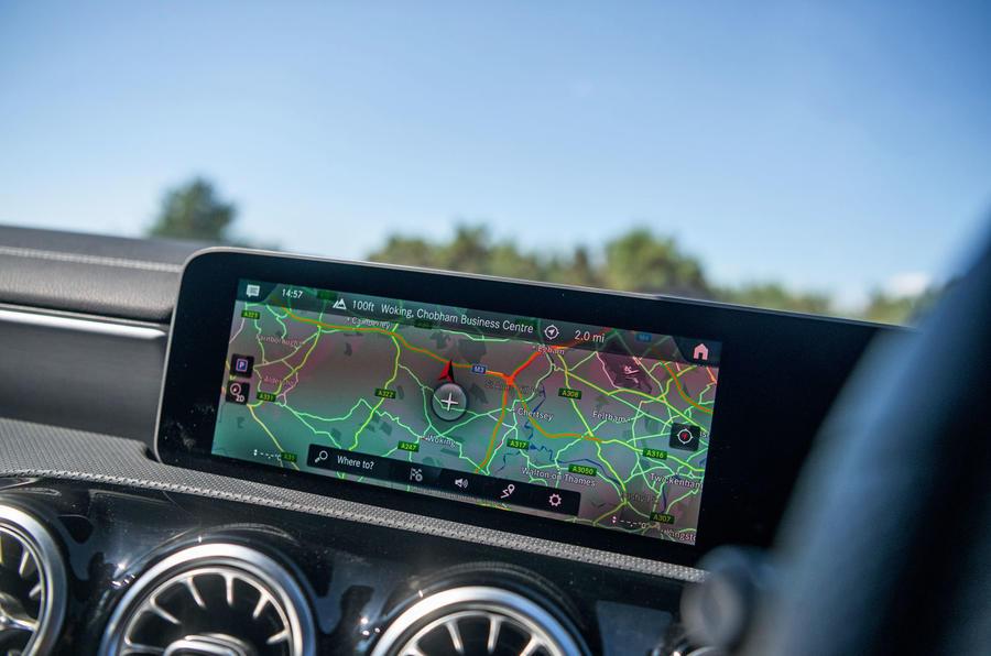 Mercedes-Benz CLA 2019 road test review - navigation