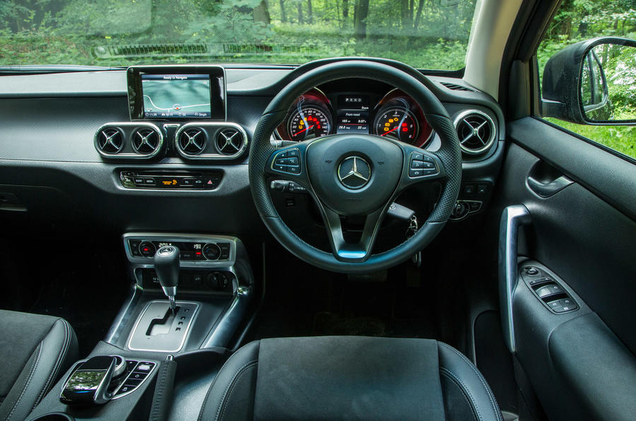 Mercedes-Benz X-Class road test review dashboard