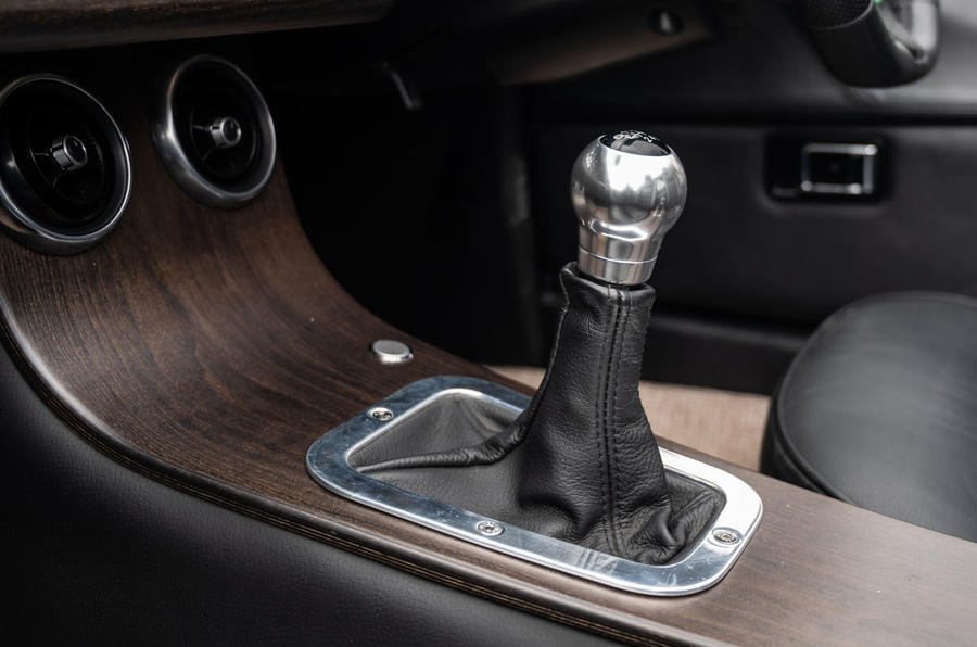 Morgan Plus Four 2020 road test review - gearstick